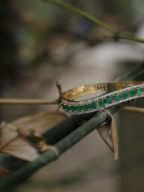 Simple Green Stone Bracelet