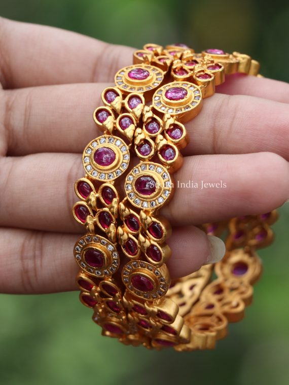 Statement Pure Ruby AD Stone Bangles-02