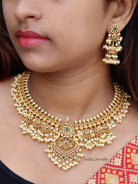 Stunning Guttapusalu Necklace