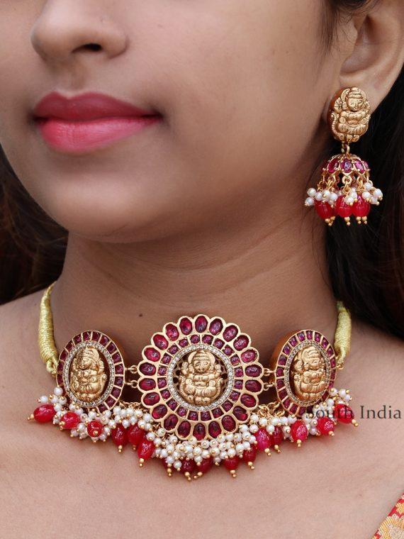 Stunning Red Stone Designer Choker