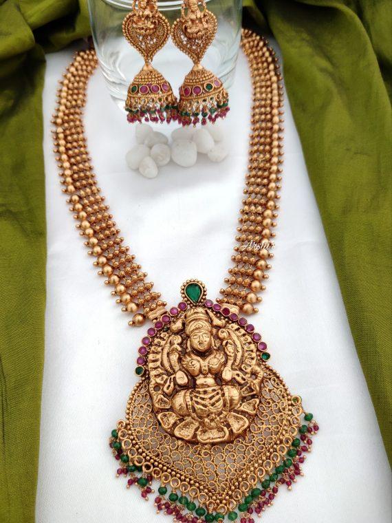 Temple Lakshmi Pendant Haram