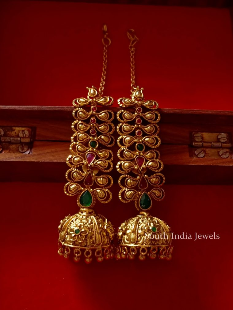 Traditional Jhumkas with Earchain
