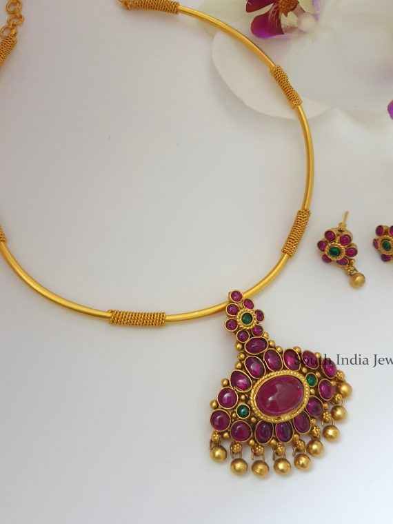 Traditional Kemp Stone Kante Necklace