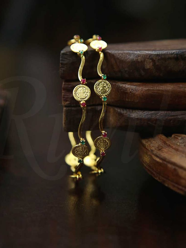 Traditional Lakshmi Coin Motif Bangles