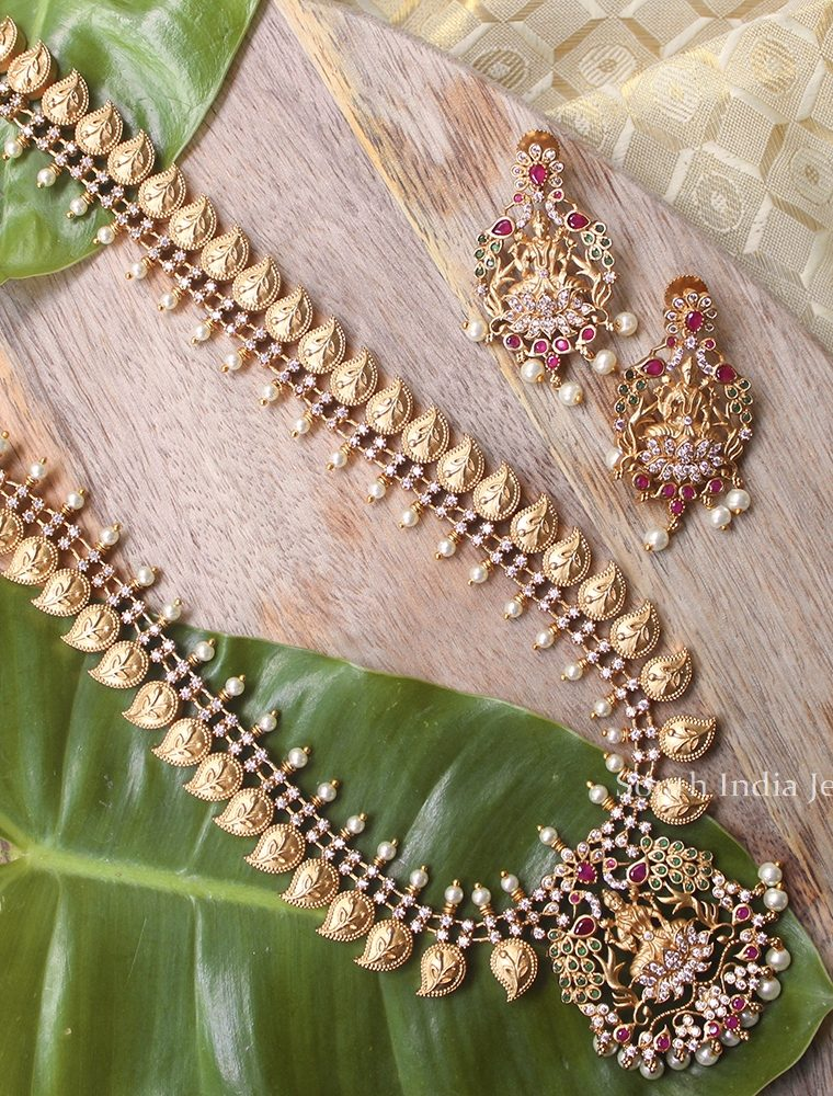 Traditional Lakshmi Haram with Earrings