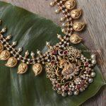 Traditional Lakshmi Haram with Earrings