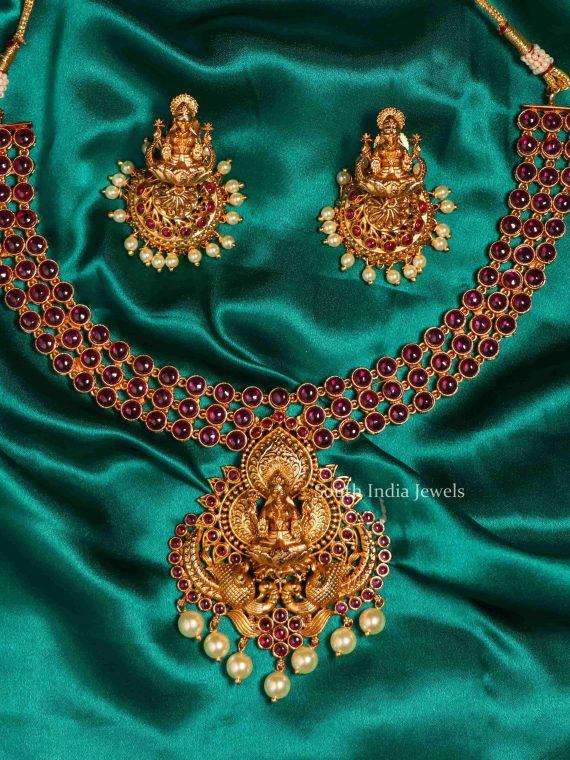 Traditional Lakshmi Pendant Short Necklace