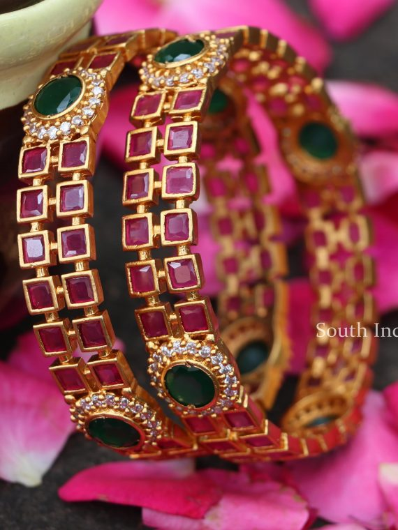 Traditional Multi Stone Bangles