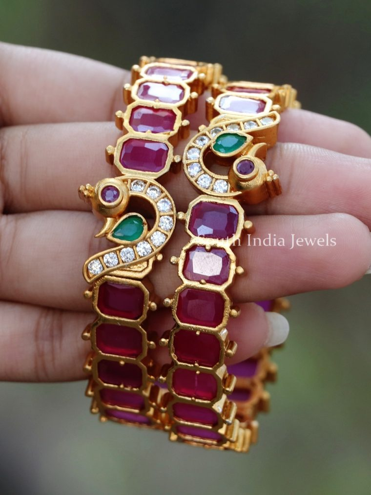Traditional Ruby Bracelet Bangles