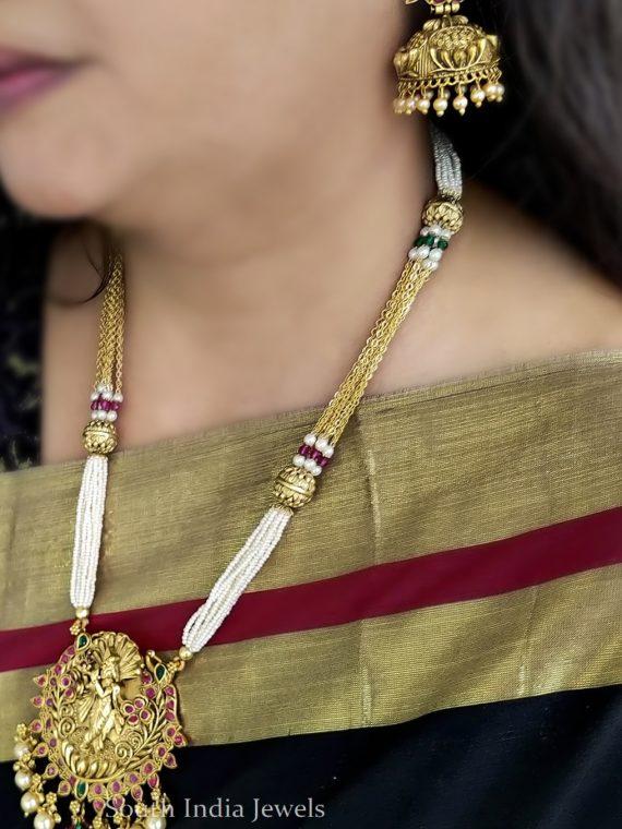 Traditional Wear Krishna Pendant Chain-01