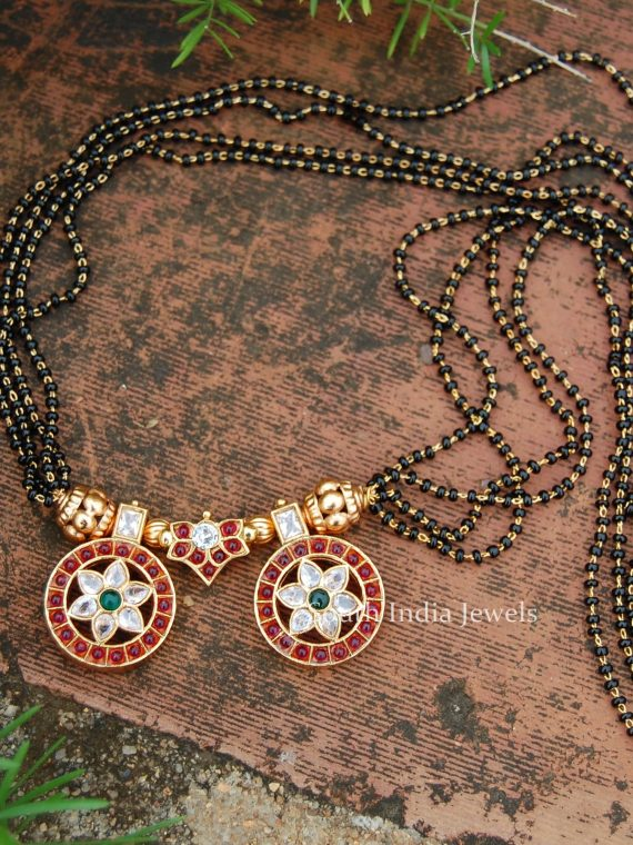 Trendy Black Beads Mangalsutra