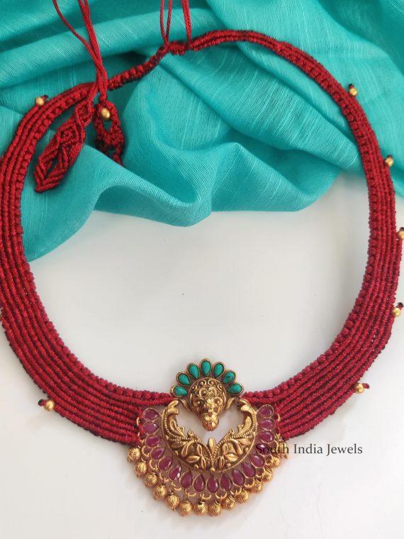 Trendy Chandbali Thread Necklace