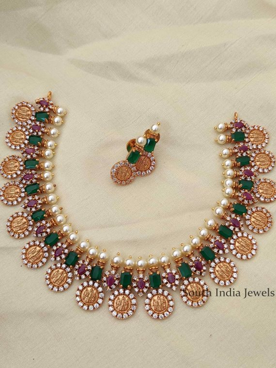Trendy Emerald Ramparivar Necklace-01