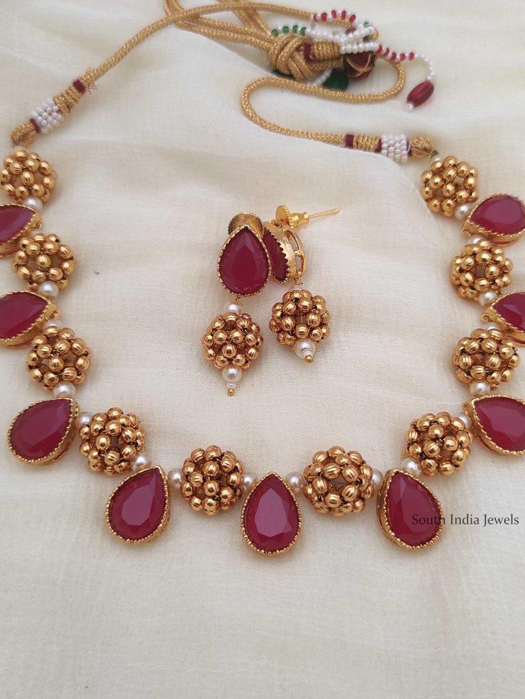 Unique Antique Beaded Necklace