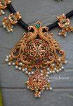 Unique Black Thread Peacock Design Necklace