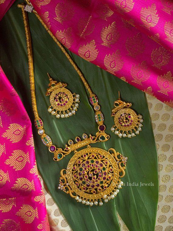 Unique Chakra Design Adigai Necklace