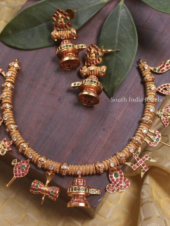 Unique Lakshmi & Sivan Necklace Set