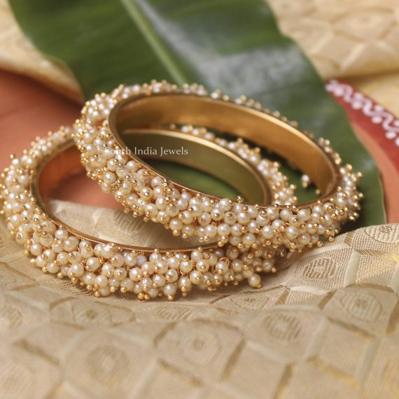 Unique Pearl Designer Bangles