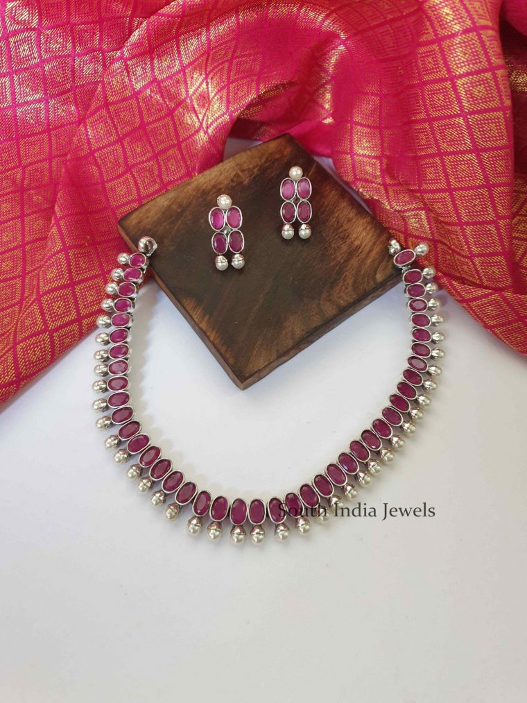 Amazing Ruby Stone Studded Necklace