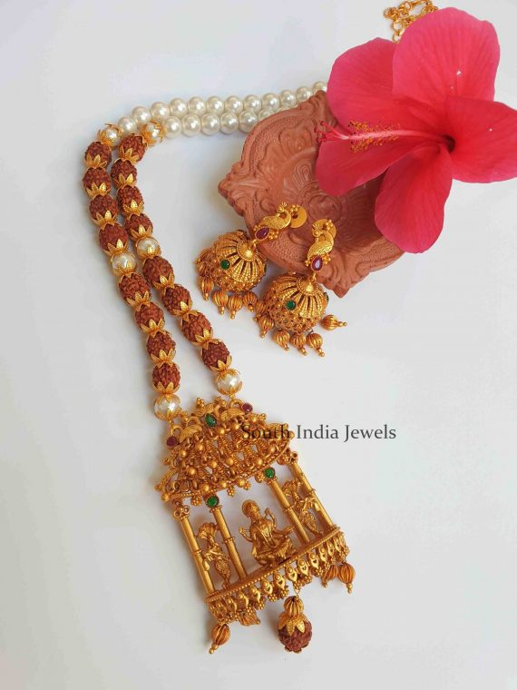 Antique Temple Lakshmi Pendant Necklace (2)