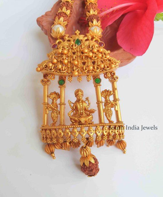 Antique Temple Lakshmi Pendant Necklace