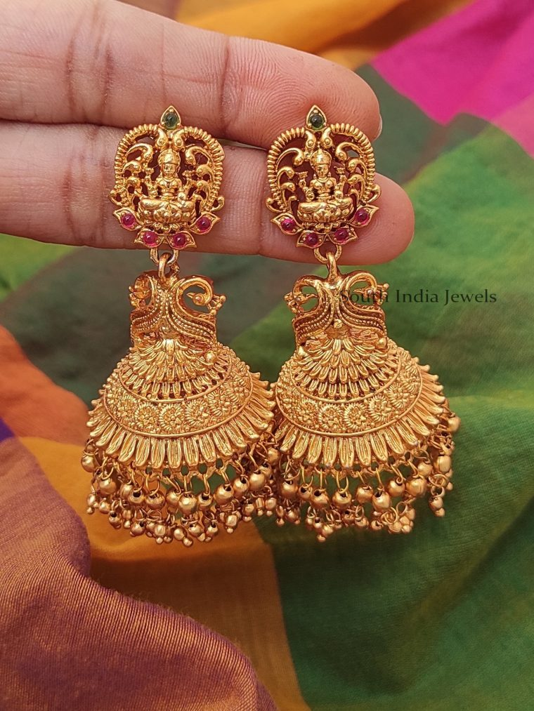 Beautiful Antique Lakshmi Earrings