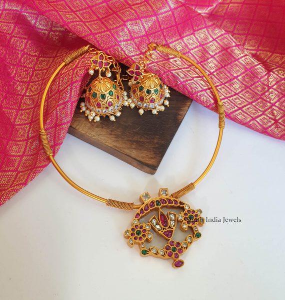 Beautiful Balaji Pendant Kante Necklace