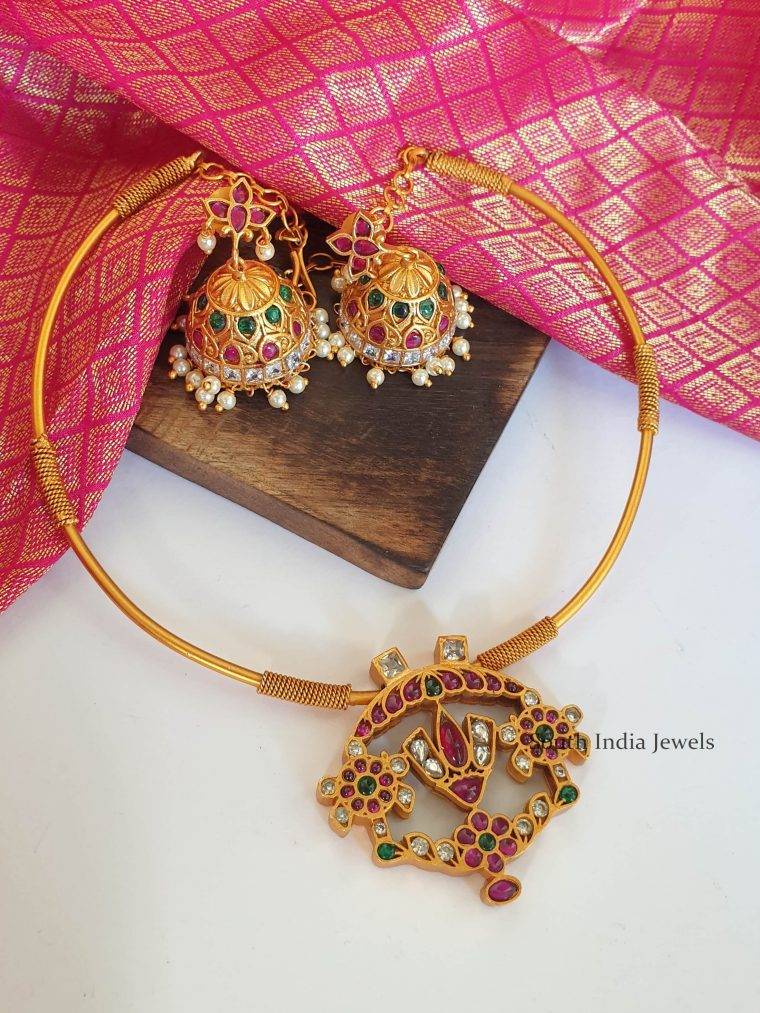 Beautiful Balaji Pendant Kante Necklace