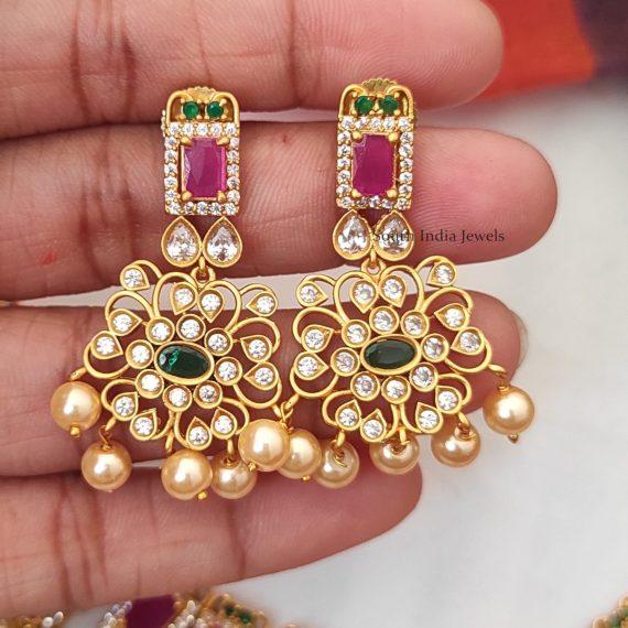 Beautiful CZ Tri Colour Necklace