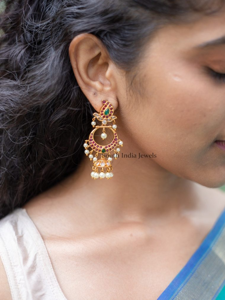 Beautiful Chandbali Design Earrings
