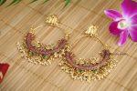 Beautiful Chandbali Mutli Stone Earrings - 01