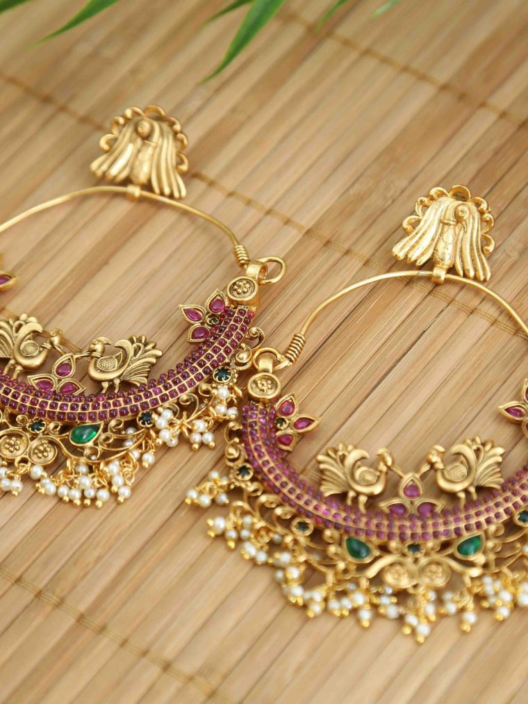 Beautiful Chandbali Mutli Stone Earrings - 01
