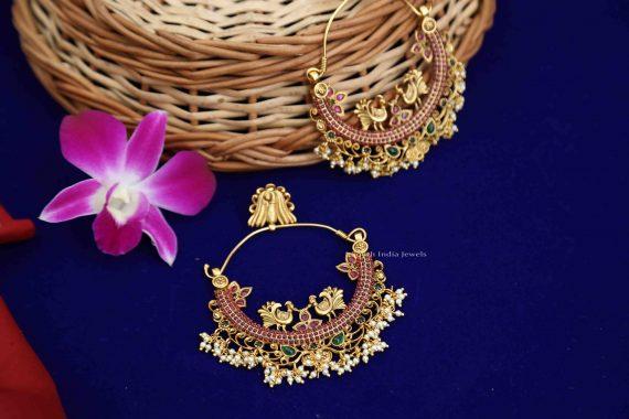 Beautiful Chandbali Mutli Stone Earrings - 02
