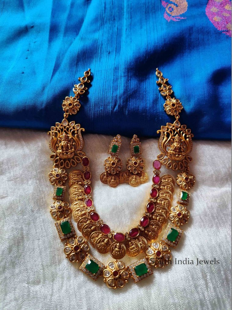 Beautiful Double Layer Lakshmi Kasu Necklace