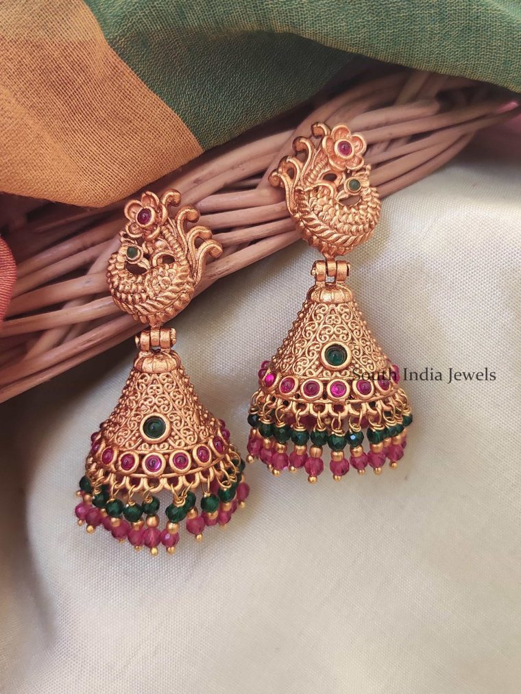 Beautiful Dual Beaded Jhumkas-01