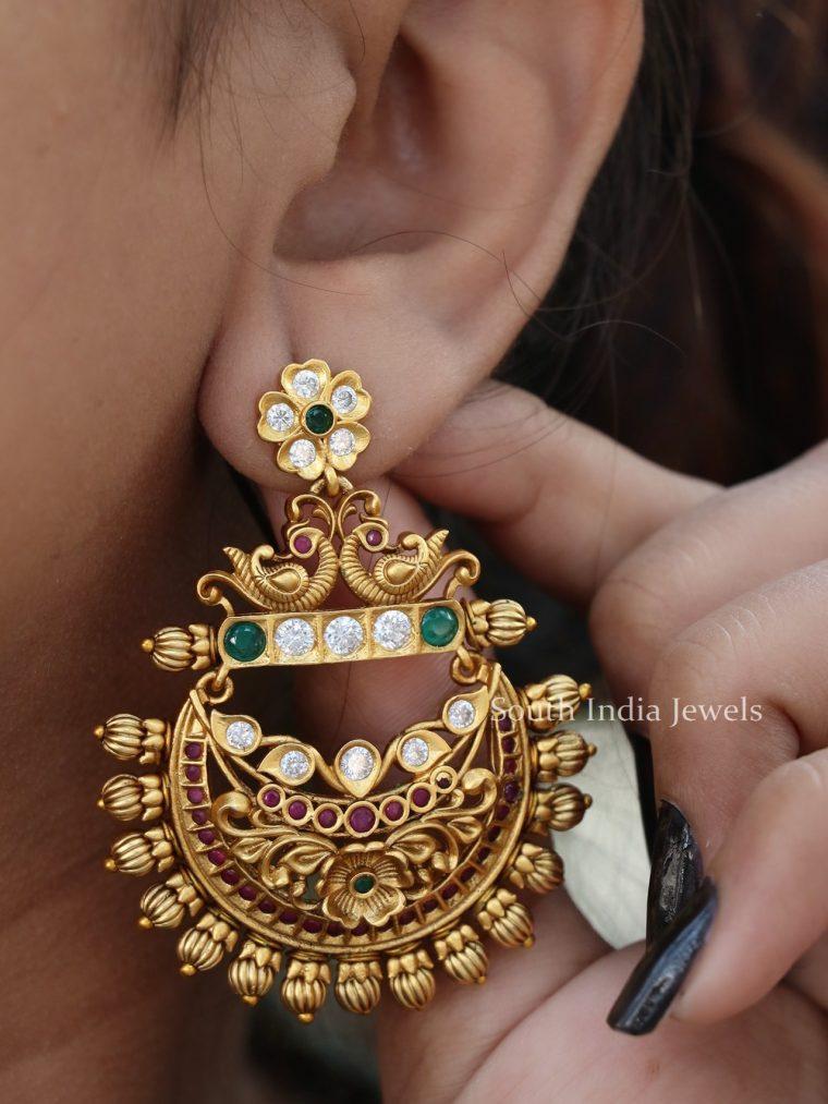 Beautiful Floral Pendulum Earrings