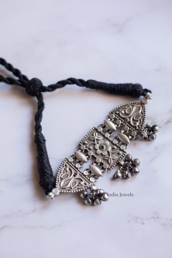 Beautiful German Silver Thread Choker