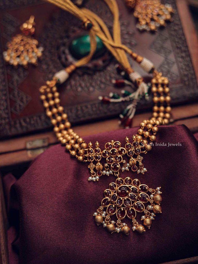 Beautiful Golden Beads Kemp Choker