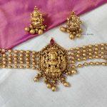 Beautiful Golden Beads Lakshmi Choker