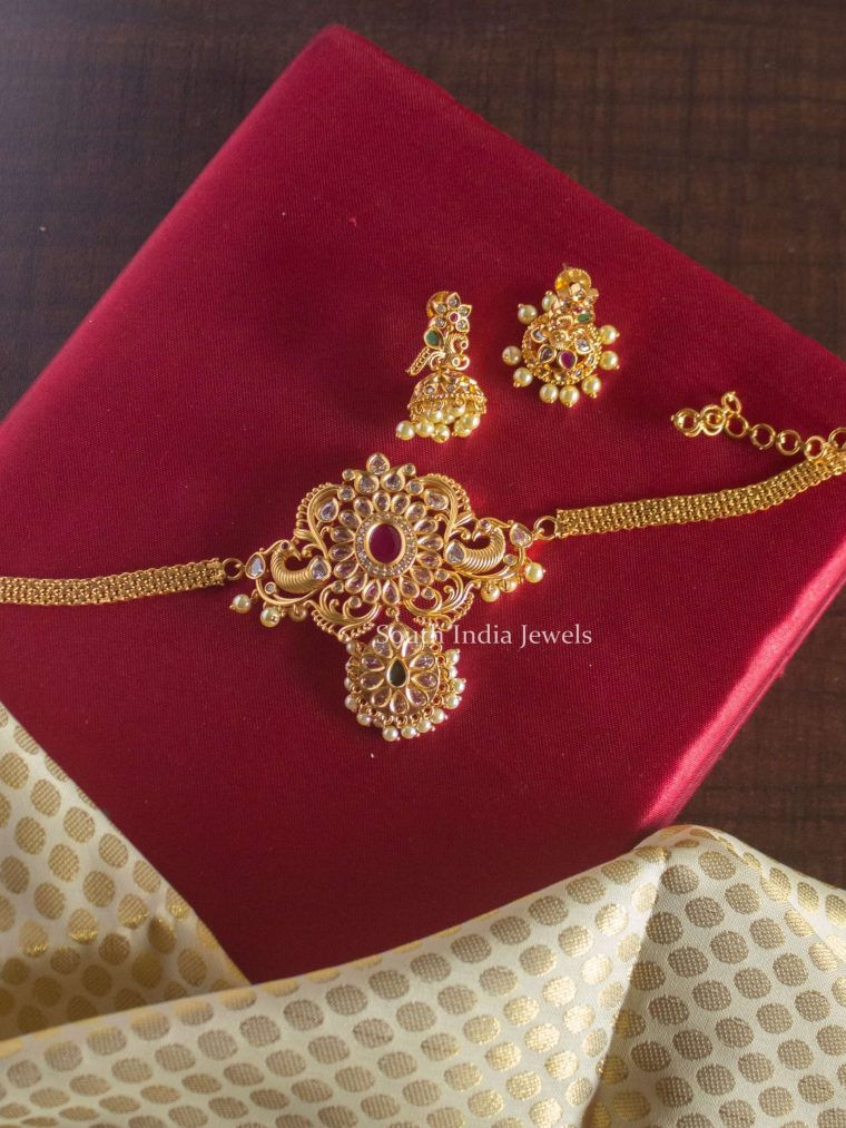 Beautiful High Neck Kundan Choker