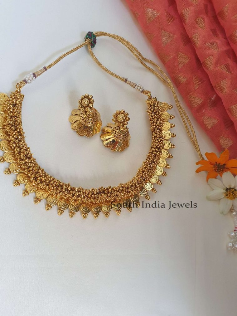 Beautiful Lakshmi cluster pearl Necklace