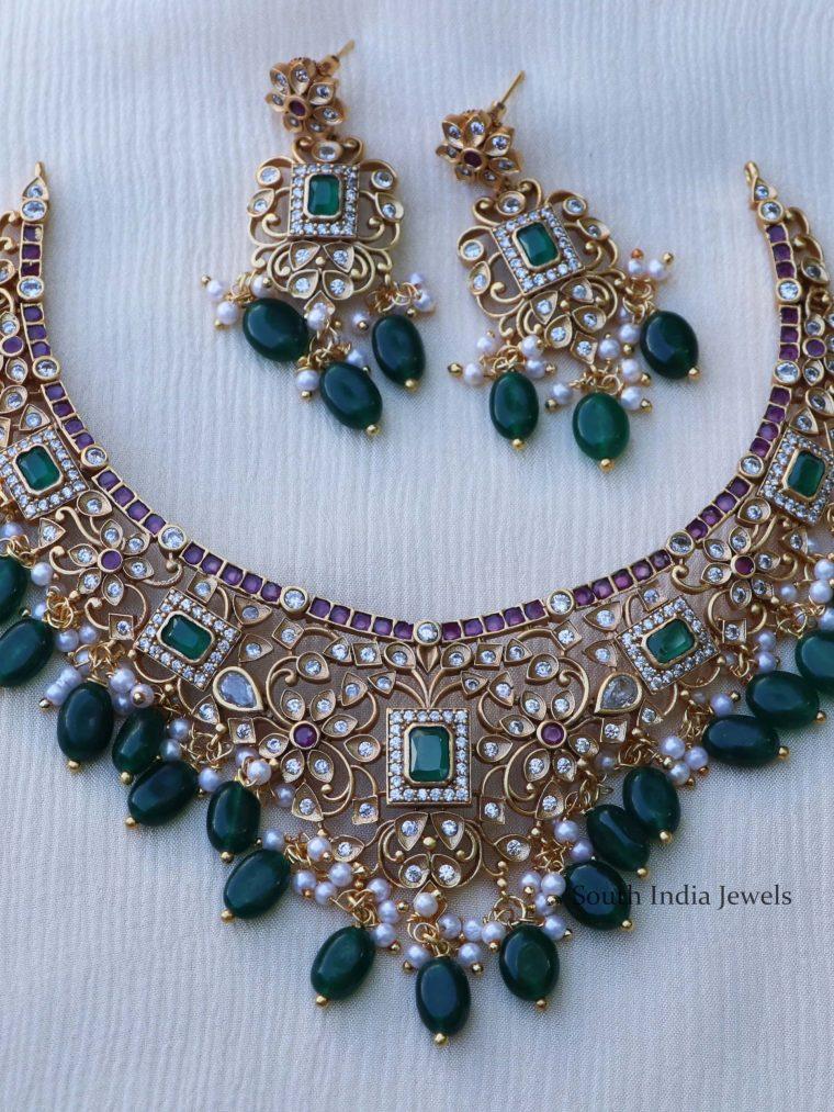 Beautiful Multi Stone Emerald Necklace