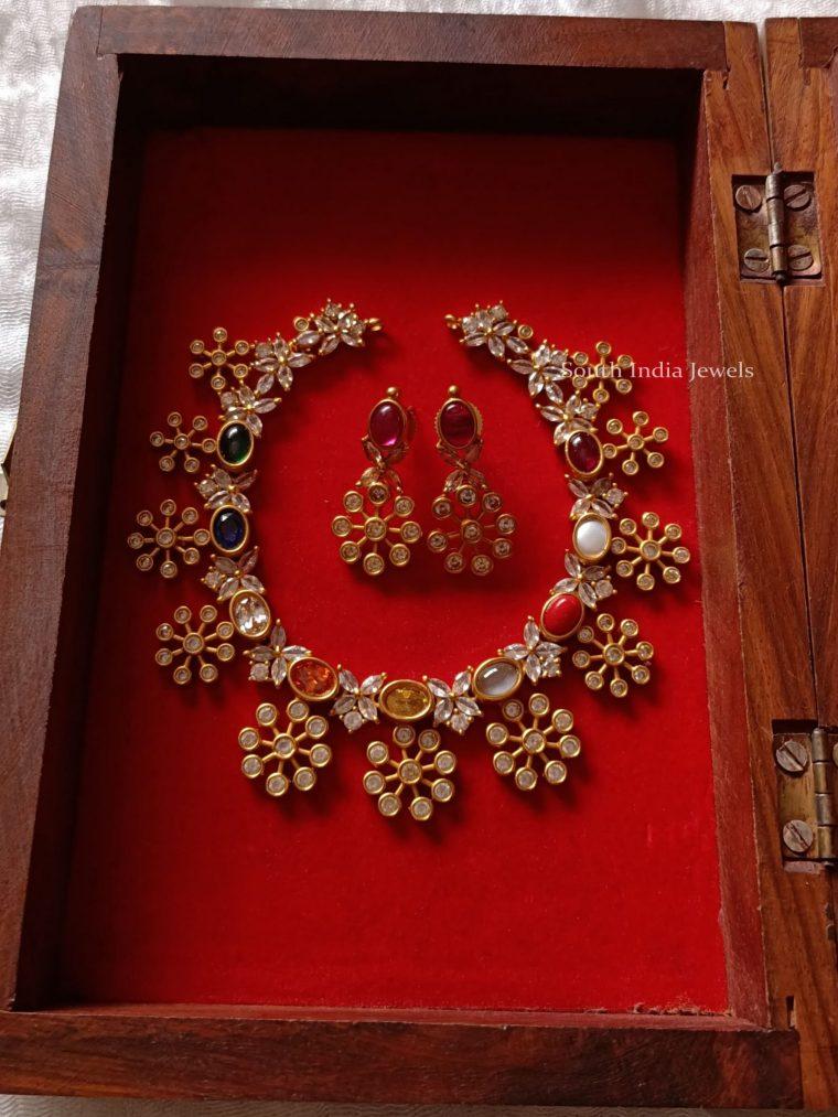 Beautiful Navarathna Stone Choker