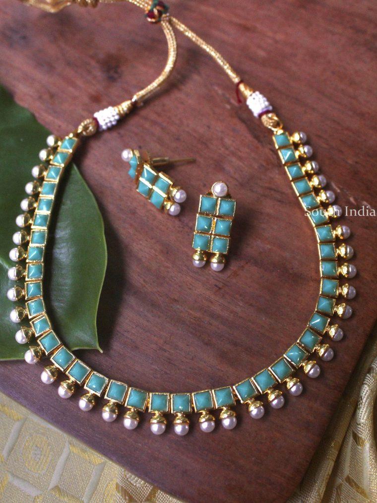 Beautiful New Greenish Necklace Set