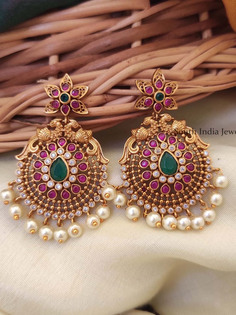 Beautiful Peacock Design Earrings