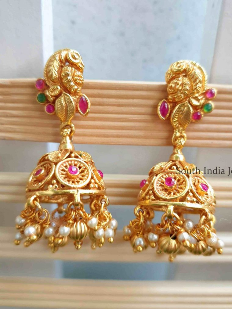 Beautiful Peacock Design Jhumka
