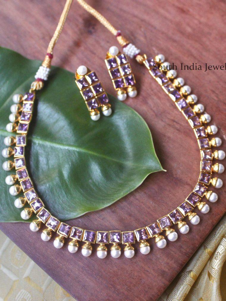 Beautiful Purple Necklace Set