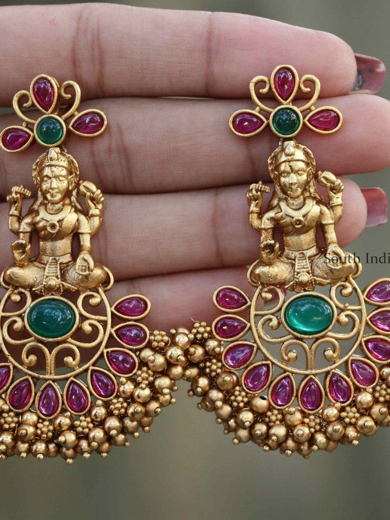 Beautiful Ruby Lakshmi Earrings
