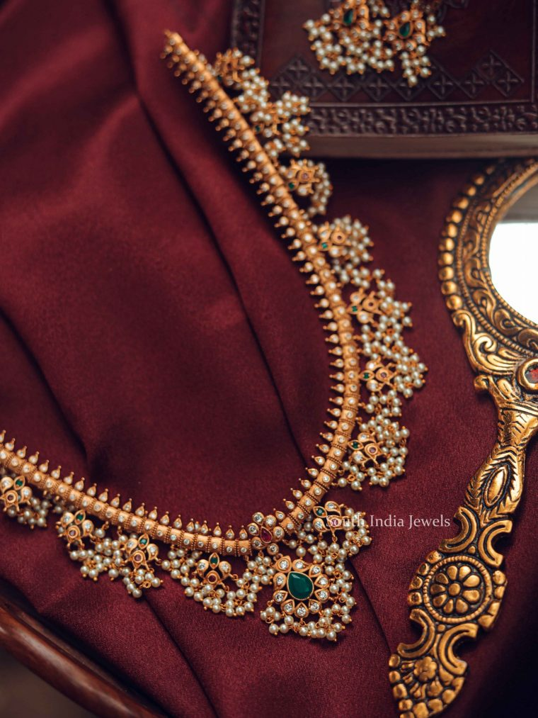 Bridal Guttapusalu Haram and Earrings-02