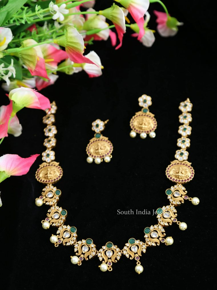 Classic Flower AD Stone Necklace-01